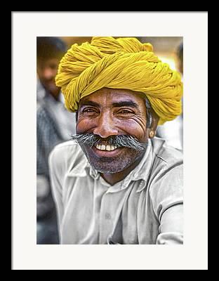 Hindu Teacher Framed Prints