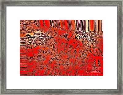 Raking Leaves Framed Print by Marsha Heiken