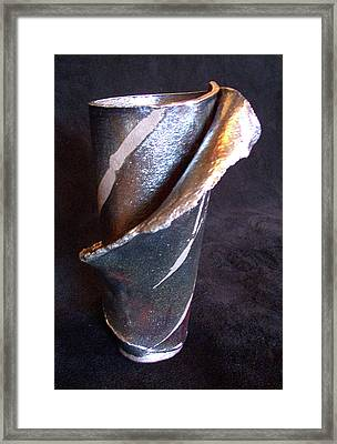 Raku Slab Wrapped Vase Framed Print