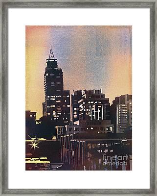 Raleigh Skyscrapers Framed Print by Ryan Fox