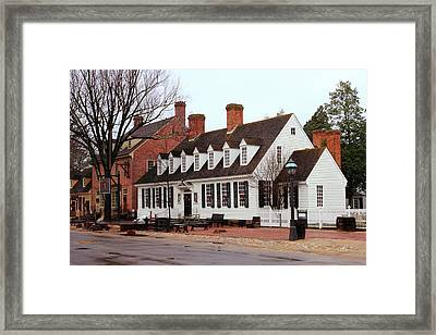 Raleigh Tavern 2 Framed Print by Lou Ford