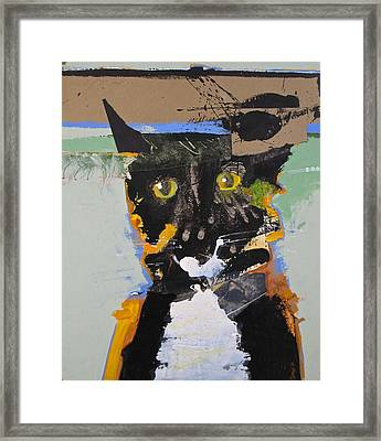 Framed Print featuring the painting Ralph Abstracted by Cliff Spohn