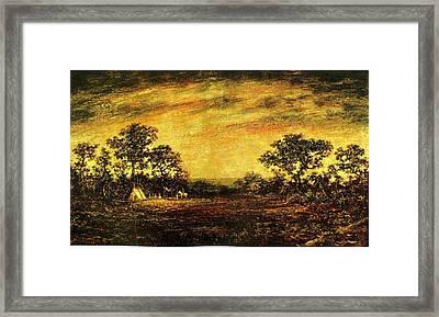 Ralph Blakelock, Indian Encampment Framed Print