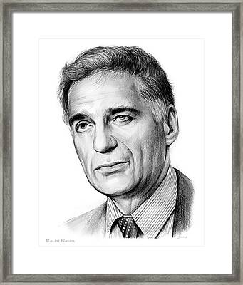 Ralph Nader Framed Print by Greg Joens