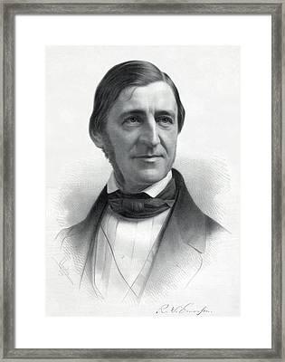 Ralph Waldo Emerson 1803-82 From An Framed Print by Everett