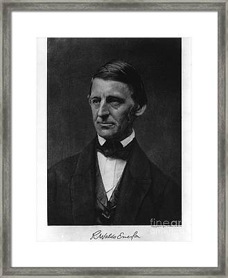 Ralph Waldo Emerson Framed Print by Celestial Images