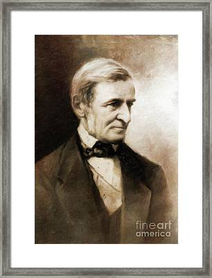 Ralph Waldo Emerson, Literary Legend By Mary Bassett Framed Print by Mary Bassett