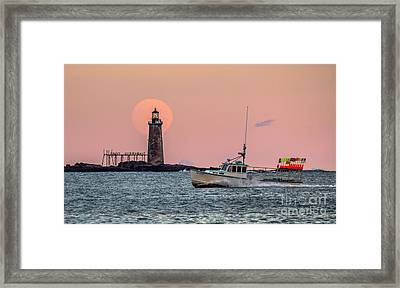 Ram Island Lighthouse Framed Print