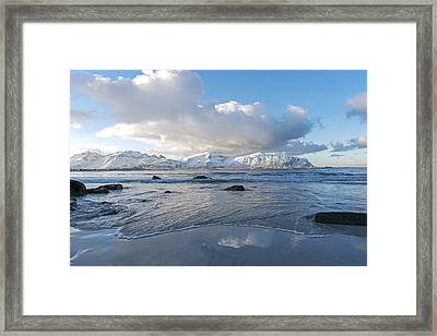 Ramberg Beach, Lofoten Nordland Framed Print