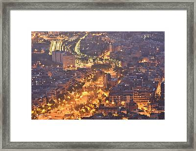 Night Street Framed Print