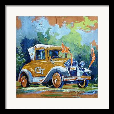 Car Mascot Paintings Framed Prints