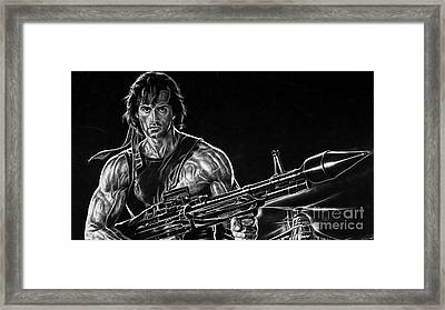 Rambo Sylvester Stallone Framed Print