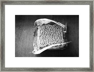 Ramen- Black And White Photography By Linda Woods Framed Print