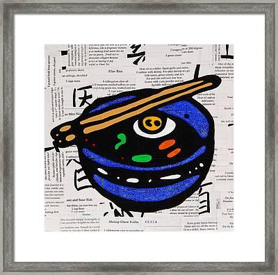 Ramen Bowl Framed Print by Jen Gabriele