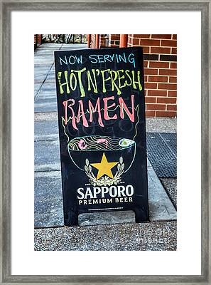 Ramen For Sale Framed Print