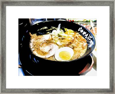 Ramen Time Framed Print