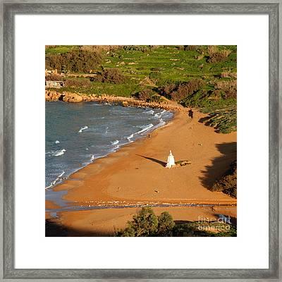 Framed Print featuring the photograph Ramla Bay by Sascha Meyer
