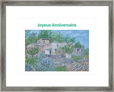 Ramni Cartes Anniversaire Framed Print by David Capon