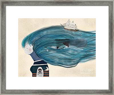 Framed Print featuring the painting Ramona by Bri B