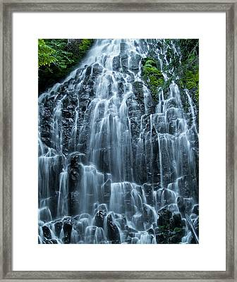 Ramona Falls Cascade Framed Print by Steven Clark