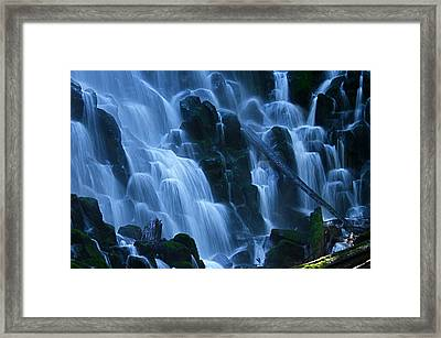 Ramona Falls In Close Framed Print