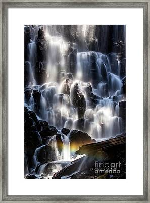 Ramona Falls With Rainbow Framed Print by Patricia Babbitt