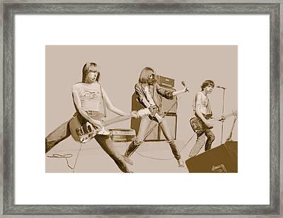 Ramones Framed Print by Kurt Ramschissel