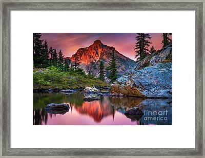 Rampart Lakes Tarn Framed Print by Inge Johnsson