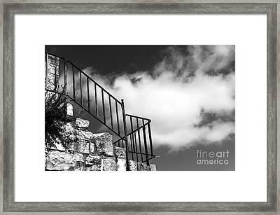 Ramparts Railing Framed Print by John Rizzuto