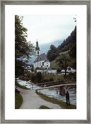 Framed Print featuring the photograph Ramsau Church by Donald Paczynski