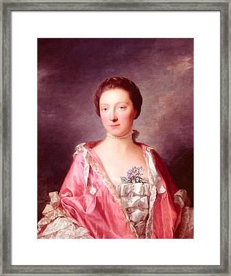 Ramsay Allan Portrait Of Elizabeth Gunning Duchess Of Argyll Framed Print