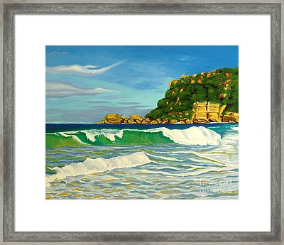 Ramy Base Beach Framed Print by Milagros Palmieri