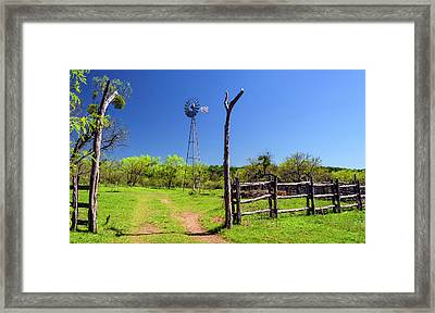 Ranch At Click Gap II Framed Print by Greg Reed