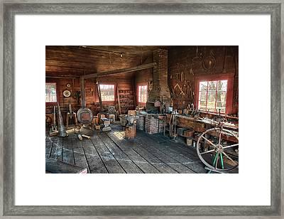 Ranch Blacksmith Shop Framed Print