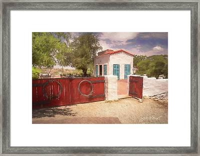 Ranch Family Homestead Framed Print