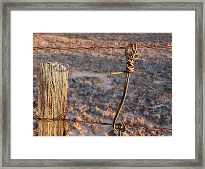 The Old Ranch Fence Framed Print