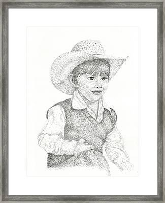 Framed Print featuring the drawing Ranch Hand by Mayhem Mediums