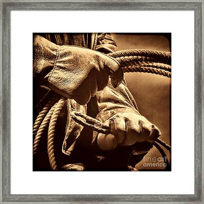Ranch Hands Framed Print by American West Legend By Olivier Le Queinec