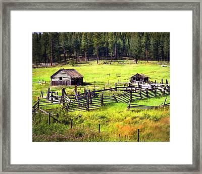 Ranch Land Framed Print by Marty Koch