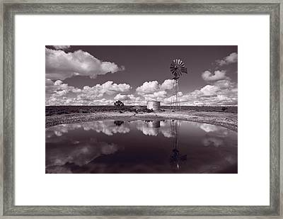 Ranch Pond New Mexico Framed Print