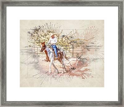 Ranch Rider Digital Art-b1 Framed Print