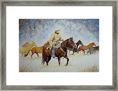 Ranch Rider Framed Print