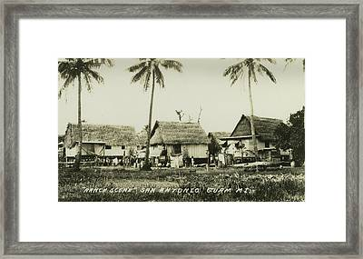 Framed Print featuring the photograph Ranch Scene San Antonio Guam by eGuam Photo