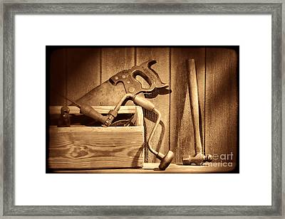 Ranch Tools  Framed Print by American West Legend By Olivier Le Queinec