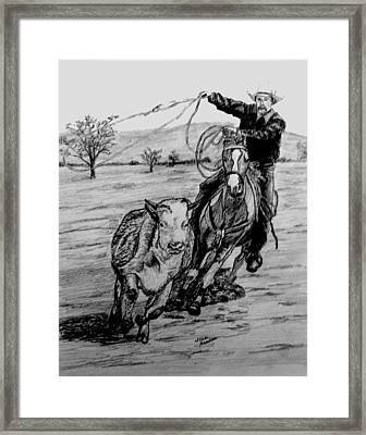 Ranch Work Framed Print by Stan Hamilton
