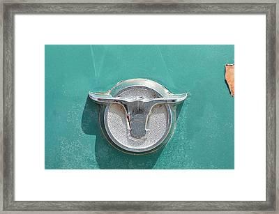Ranchero Emblem Framed Print by Lynda Dawson-Youngclaus