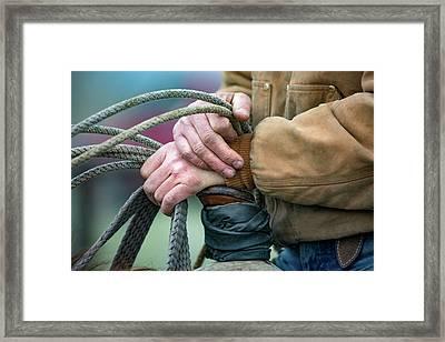 Ranching Hands Framed Print by Todd Klassy