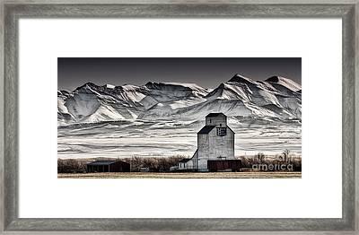 Ranchland Elevator Framed Print