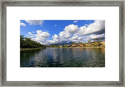Rancho Santa Margarita Lake Framed Print