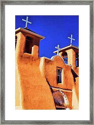 Ranchos De Taos Church Framed Print